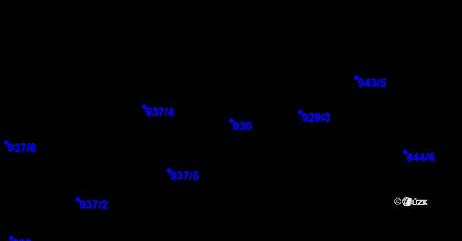 Parcela st. 930 v k.ú. Moravská Ostrava, Katastrální mapa