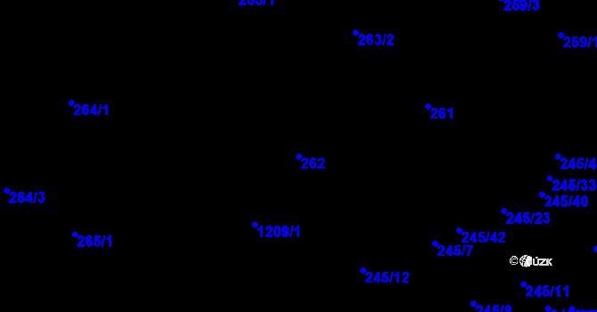 Parcela st. 262 v k.ú. Vítkovice, Katastrální mapa