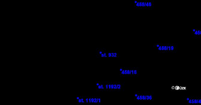 Parcela st. 932 v k.ú. Zábřeh nad Odrou, Katastrální mapa