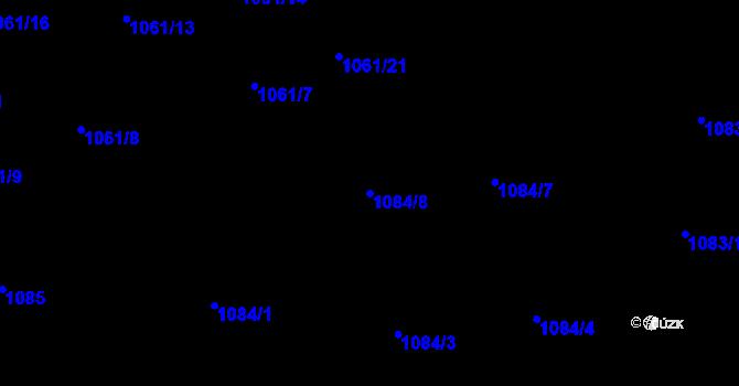 Parcela st. 1084/8 v k.ú. Hrabová, Katastrální mapa
