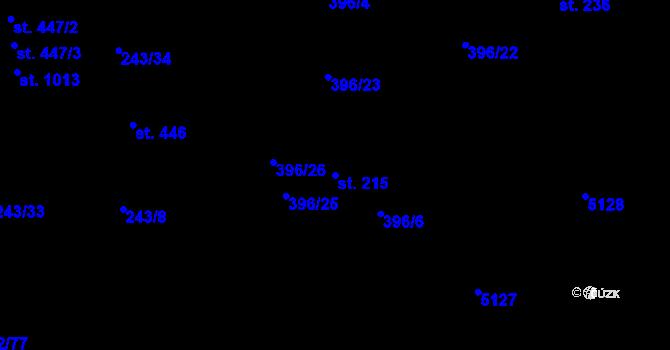 Parcela st. 215 v k.ú. Heřmanice, Katastrální mapa