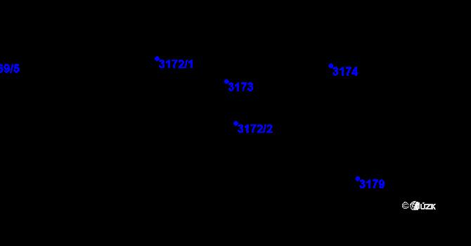 Parcela st. 3172/2 v k.ú. Radvanice, Katastrální mapa