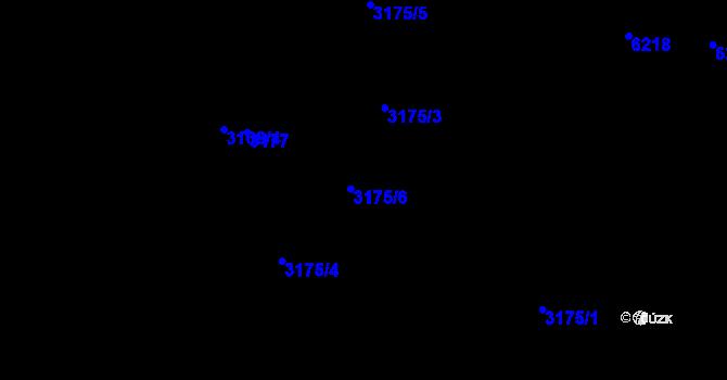 Parcela st. 3175/6 v k.ú. Radvanice, Katastrální mapa