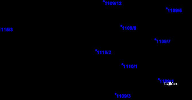 Parcela st. 1110/2 v k.ú. Radvanice, Katastrální mapa