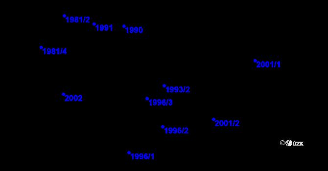 Parcela st. 1993/2 v k.ú. Bartovice, Katastrální mapa