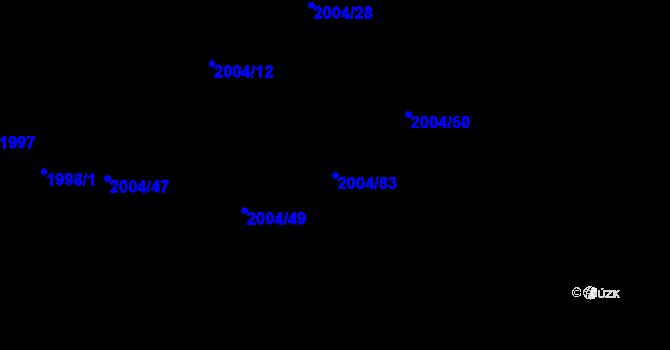 Parcela st. 2004/83 v k.ú. Bartovice, Katastrální mapa