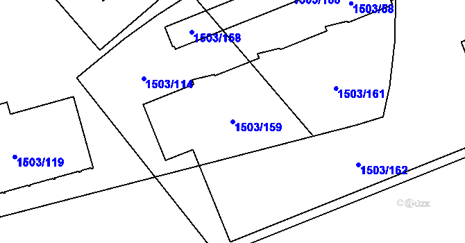 Parcela st. 1503/159 v k.ú. Poruba-sever, Katastrální mapa