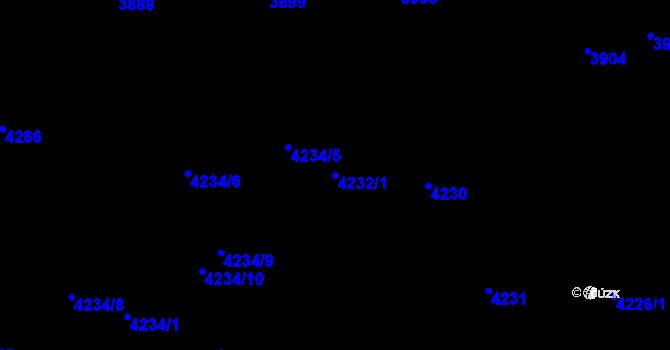Parcela st. 4232/1 v k.ú. Pustkovec, Katastrální mapa