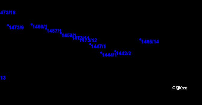 Parcela st. 1444/1 v k.ú. Kvítkovice u Otrokovic, Katastrální mapa