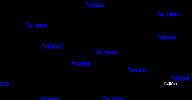 Parcela st. 10569 v k.ú. Pardubice, Katastrální mapa