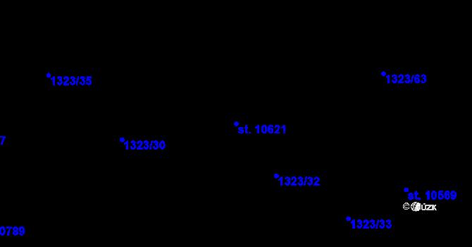 Parcela st. 10621 v k.ú. Pardubice, Katastrální mapa