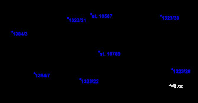 Parcela st. 10789 v k.ú. Pardubice, Katastrální mapa