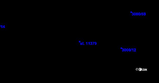 Parcela st. 11379 v k.ú. Pardubice, Katastrální mapa