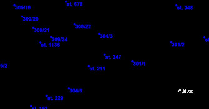 Parcela st. 347 v k.ú. Studánka, Katastrální mapa