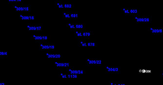 Parcela st. 678 v k.ú. Studánka, Katastrální mapa
