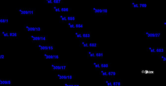 Parcela st. 682 v k.ú. Studánka, Katastrální mapa