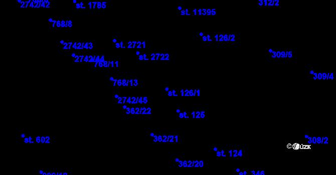 Parcela st. 126/1 v k.ú. Studánka, Katastrální mapa
