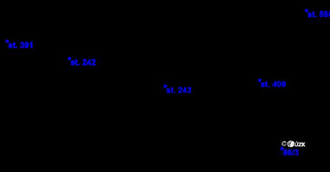 Parcela st. 243 v k.ú. Trnová, Katastrální mapa