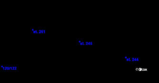 Parcela st. 245 v k.ú. Trnová, Katastrální mapa