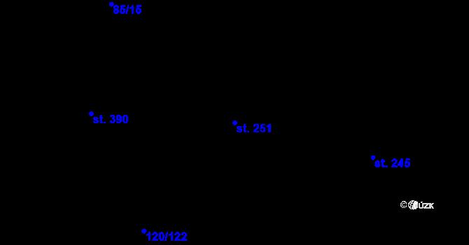 Parcela st. 251 v k.ú. Trnová, Katastrální mapa