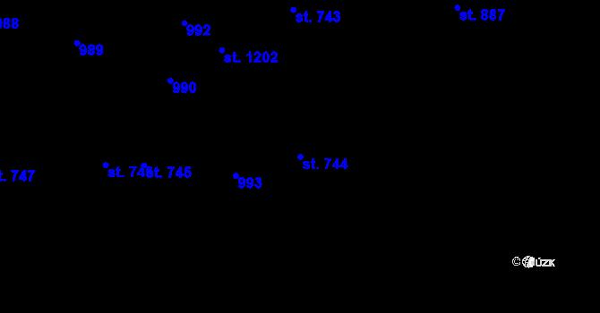 Parcela st. 744 v k.ú. Svítkov, Katastrální mapa