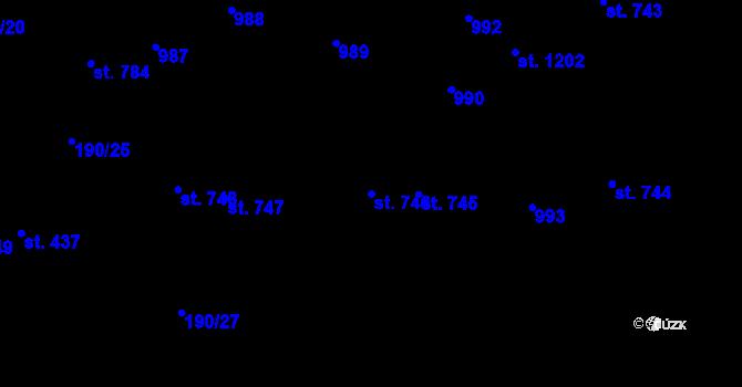 Parcela st. 746 v k.ú. Svítkov, Katastrální mapa