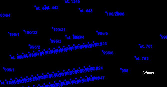 Parcela st. 921 v k.ú. Svítkov, Katastrální mapa