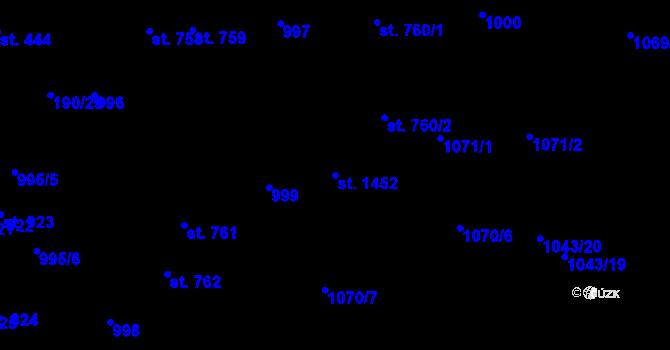 Parcela st. 1452 v k.ú. Svítkov, Katastrální mapa