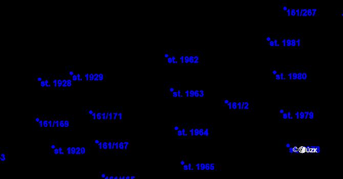 Parcela st. 1963 v k.ú. Svítkov, Katastrální mapa