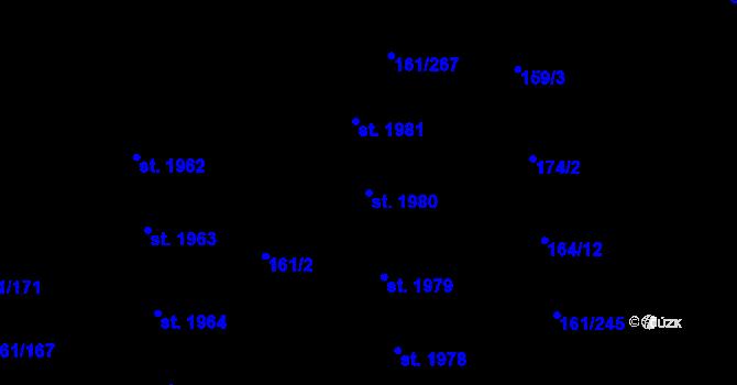 Parcela st. 1980 v k.ú. Svítkov, Katastrální mapa