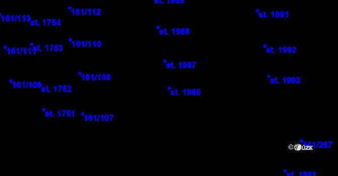 Parcela st. 1986 v k.ú. Svítkov, Katastrální mapa