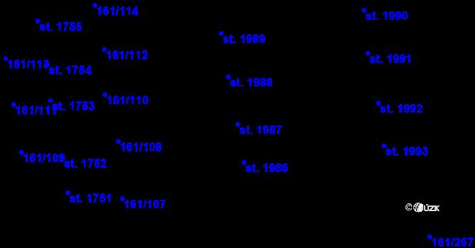 Parcela st. 1987 v k.ú. Svítkov, Katastrální mapa