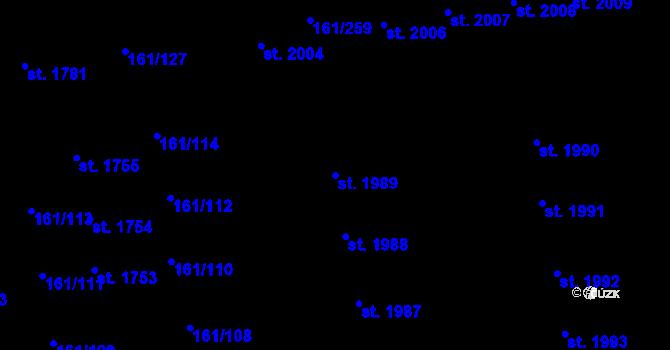 Parcela st. 1989 v k.ú. Svítkov, Katastrální mapa