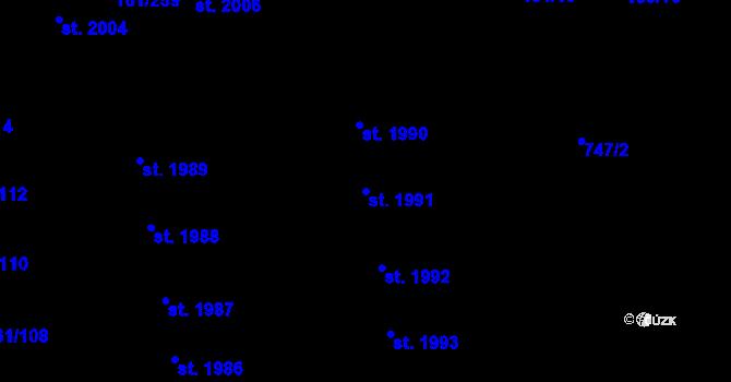 Parcela st. 1991 v k.ú. Svítkov, Katastrální mapa