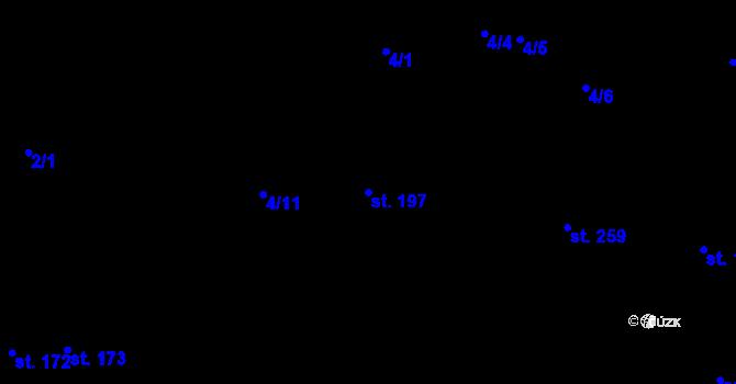 Parcela st. 197 v k.ú. Nové Jesenčany, Katastrální mapa