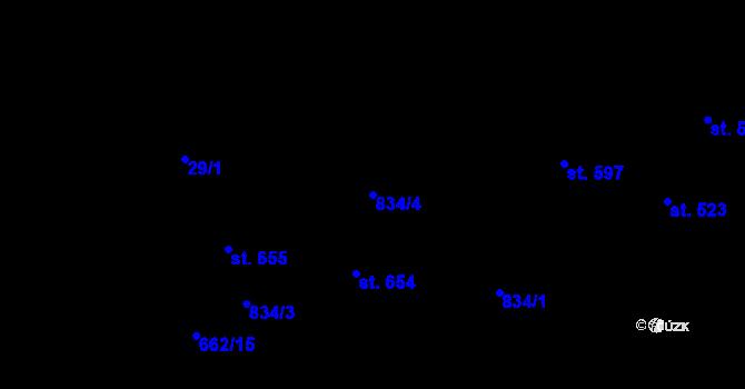 Parcela st. 834/4 v k.ú. Pec pod Sněžkou, Katastrální mapa