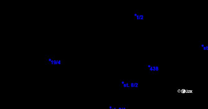 Parcela st. 9/2 v k.ú. Březí u Pernarce, Katastrální mapa