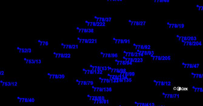 Parcela st. 778/96 v k.ú. Petřkovice u Ostravy, Katastrální mapa