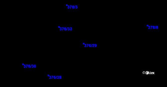 Parcela st. 376/29 v k.ú. Písek u Chlumce nad Cidlinou, Katastrální mapa