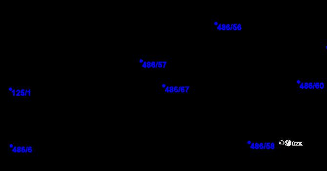 Parcela st. 486/67 v k.ú. Pístov u Jihlavy, Katastrální mapa