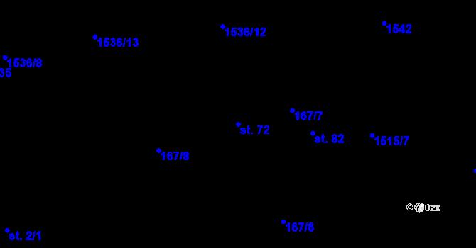 Parcela st. 72 v k.ú. Vysoká u Jihlavy, Katastrální mapa