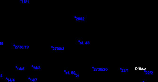 Parcela st. 48 v k.ú. Plavsko, Katastrální mapa