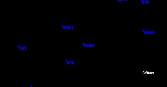 Parcela st. 659/3 v k.ú. Stará Plesná, Katastrální mapa