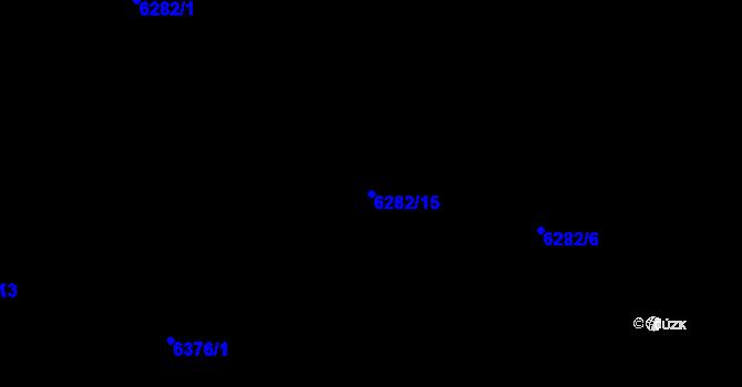 Parcela st. 6282/15 v k.ú. Plzeň, Katastrální mapa
