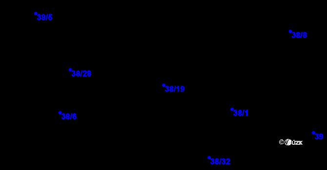 Parcela st. 38/19 v k.ú. Hradiště u Plzně, Katastrální mapa