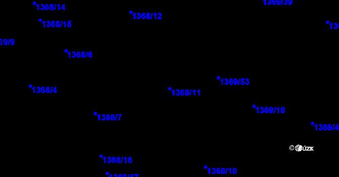 Parcela st. 1368/11 v k.ú. Bručná, Katastrální mapa