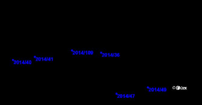 Parcela st. 2014/36 v k.ú. Skvrňany, Katastrální mapa