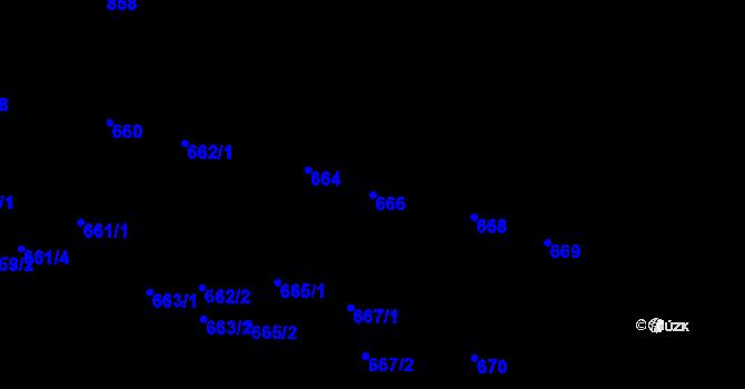 Parcela st. 666 v k.ú. Lobzy, Katastrální mapa