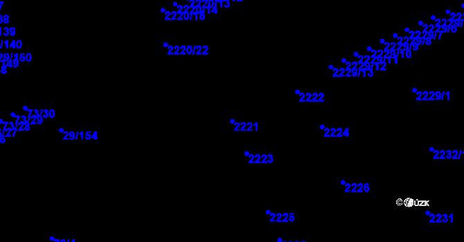 Parcela st. 2221 v k.ú. Doubravka, Katastrální mapa