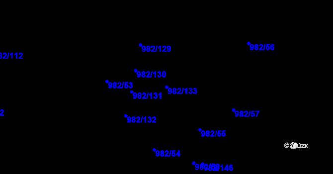 Parcela st. 982/133 v k.ú. Újezd, Katastrální mapa